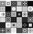 black and white modern ceramic tiles vector image