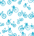 seamless blue bicycle bike vector image