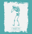 Paper art Human Skeleton vector image vector image