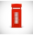 Telephone box Londone style vector image vector image