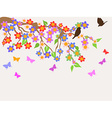 spring flower tree background vector image vector image