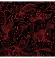 seamless black and red floral pattern vector image vector image