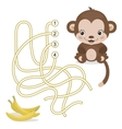 Maze Game for Preschool Children with Monkey and vector image vector image