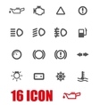 grey car dashboard icon set vector image