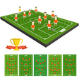 Soccer team clip-art with different strategy vector image vector image