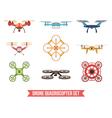 Drone Quadrocopter Set vector image