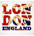 Flag of Great Britain London city typography vector image
