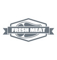 fresh meat product logo simple style vector image
