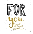 Hand lettering calligraphy black and gold style vector image