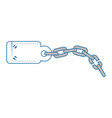 handcuffs and chain icon vector image