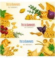 Pasta banners with cooking ingredients vector image