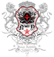 Rise and shine crest emblem vector image