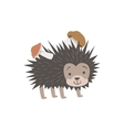 Hedgehog Carrying Two Mushrooms On The Back vector image