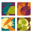abstract vegetable designs set 2 vector image