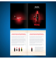 booklet catalog brochure folder wine red vine vector image vector image