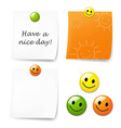 Blank Sticky Note Set vector image vector image