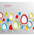 Easter eggs abstract colorful background vector image