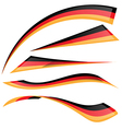 Germany flag set vector image