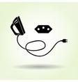 Iron two-pin plug Brazilian socket base icon vector image