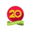 Twenty years anniversary logo 20 year birthday vector image