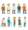 Flat design senior citizens vector image vector image