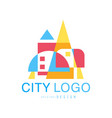 city logo modern design of real estate and city vector image