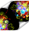 colorful background flourish vector image