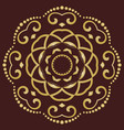 geometric golden pattern vector image