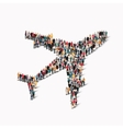 group people aircraft transportation vector image