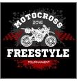 Motocross Tournament emblem vector image