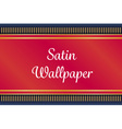 red and gold satin or velvet mat or carpet on deep vector image