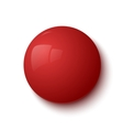 Red glossy button vector image