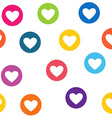 Seamless pattern with colorful hearts circles vector image