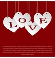 I love you Heart on a string Valentines Day vector image