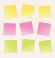 Colorful notes paper vector image