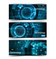 set of modern scientific banners vector image