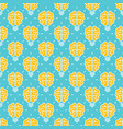 idea pattern design - seamless pattern with brain vector image