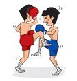 Thai Boxing vector image