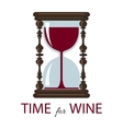 time for wine Color card vector image
