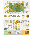 Camping infographic set with charts and other vector