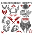 Design elements on white background for vintage vector image