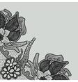 Template design romantic invitation or greeting vector image