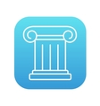 Ancient column line icon vector image
