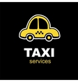 emblem for taxi service vector image
