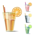 Cocktails set on white vector image