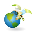 brief-case with documents as earth vector image