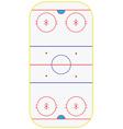 Ice hockey field vector image