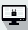 Internter Security Concept Flat Icon Design vector image