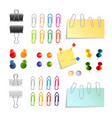 Paper Clip And Pin Set vector image