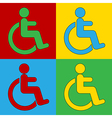 Pop art disabled sign icons vector image